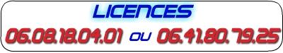 Licences 06 75 19 15 97
